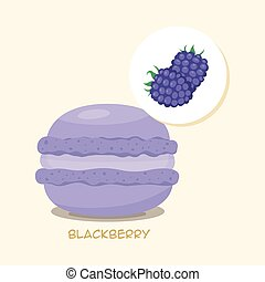 Macaroon with blackberrie taste - Macaroon with Blackberry...