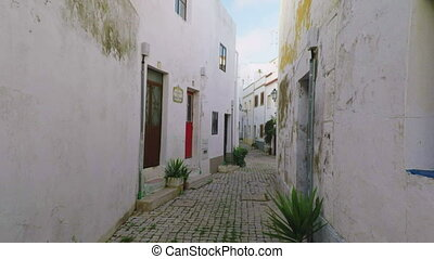 Old historical fishing streets of the ancient city of...