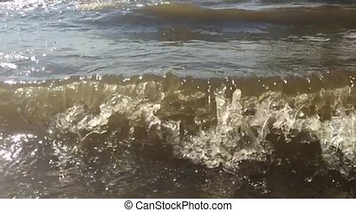 strong waves ocean sea nature water slow motion video....