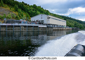 Foyers Falls power stations on Loch Ness. This remarkable...