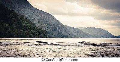Multi-humped Monster-shaped waves on Loch Ness, Scotland...
