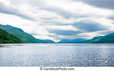 Multi-humped Monster-shaped waves on Loch Ness, Scotland -...
