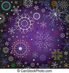 Black and violet effortless christmas pattern with colorful...