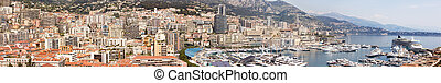 Monaco, Monte Carlo - A high resolution panorama of Monaco,...