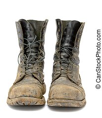 Boots - A pair of muddy boots