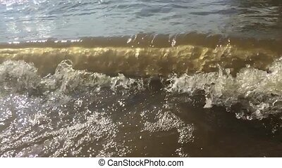 strong waves water ocean sea nature slow motion video....