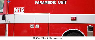 Paramedic van.