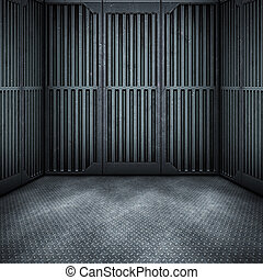 nice room - An image of a dark steel room background