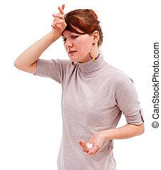 Young woman headache