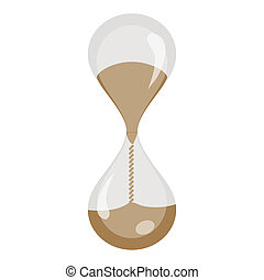 hour watch - illustration of hour watch on white background