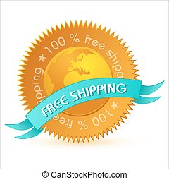 free shipping tag - illustration of free shipping tag on...