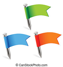 multicolored flags - illustration of multicolored flags on...
