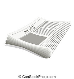 newspaper - illustratiion of newspaper on white background