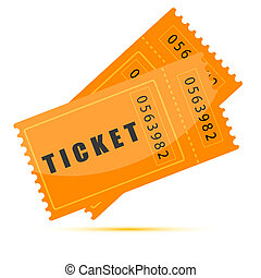 movie tickets - illustration of movie tickets on white...