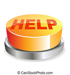 help button - illustration of help button on white...