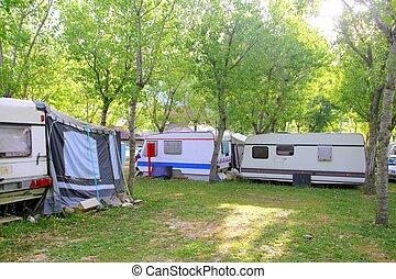 acampamento, Ao ar livre