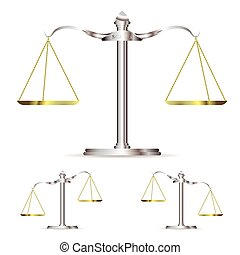 metal scales - Scales of justice in level up and down...