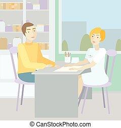 Woman doctor advises a patient - Blonde woman doctor advises...