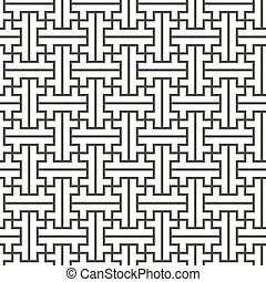 vector swastika ornament seamless pattern - vector black...