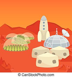 Mars colonization settlement