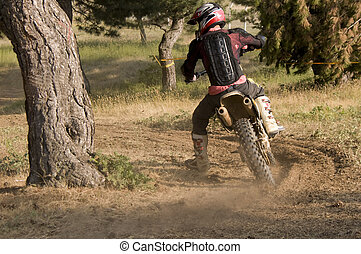 Motocross rider - Enduro rider in nature