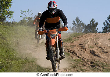 Motocross riders - Enduro riders in nature