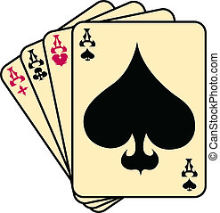 Aces spades poker clip art - Four of a kind aces spades...