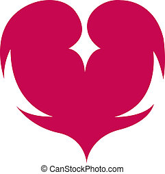 Poker card suit of hearts clip art