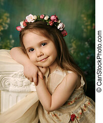 Elegant portrait of a sweet young girl - Beautiful child...