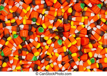 Halloween candy corn background - Halloween candy corn with...