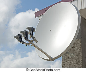 Parabola - satellite parabolic antenna with three LNB's