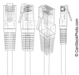Ethernet connector RJ45. Vector - Ethernet connector RJ45....