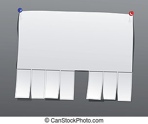 Blank advertisement - vector blank advertisement paper with...
