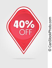 Special offer sale sticker 40 percent - Special offer sale...