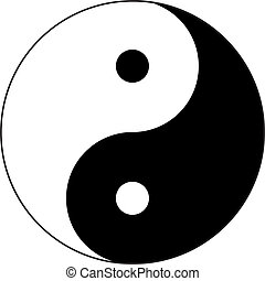 Yin and Yang with Border - The symbol of Taoism, symbolizing...
