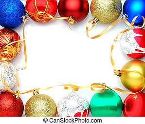 Christmas Ornaments Frame - Christmas decorations border...