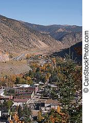 小さい, 山, 町,  colorado