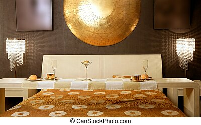 Asian modern bedroom breakfast luxury table - Asian modern...