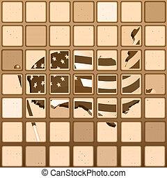 Flag US mosaic