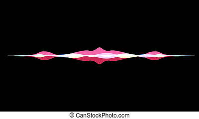 colorful waveform, imagination of voice record, artificial...
