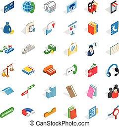 Magnet icons set, isometric style - Magnet icons set....