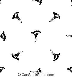 Chanterelle pattern seamless black - Chanterelle pattern...