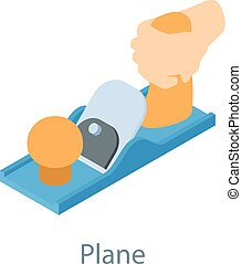 Plane tool icon, isometric 3d style - Plane tool icon....
