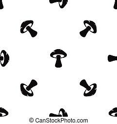 Tubular mushroom pattern seamless black - Tubular mushroom...