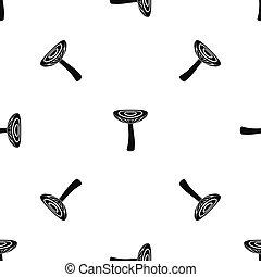 Mushroom russet pattern seamless black - Mushroom russet...