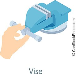 Vise tool icon, isometric 3d style - Vise tool icon....