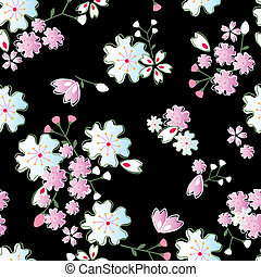 Jpanese blossoms pattern