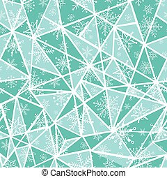 Vector abstract mint green christmass snowflakes on...