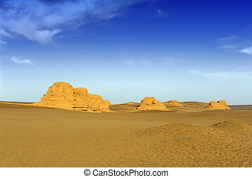 Yardang landforms of Dunhuang