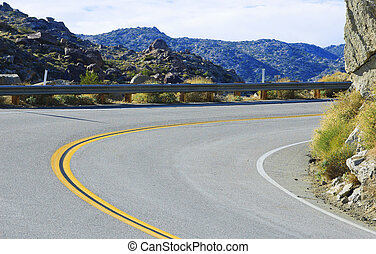 Mountain road to Anza Borrego Desert California, USA